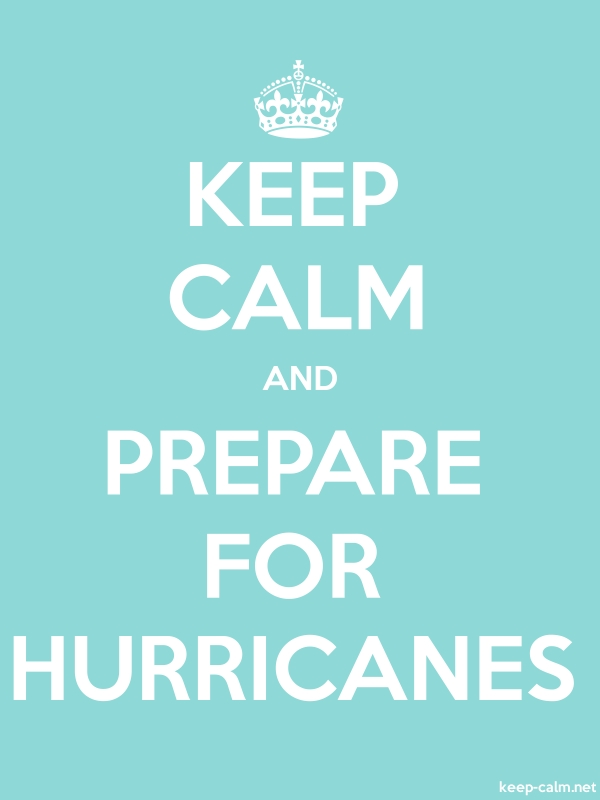 KEEP CALM AND PREPARE FOR HURRICANES - white/lightblue - Default (600x800)