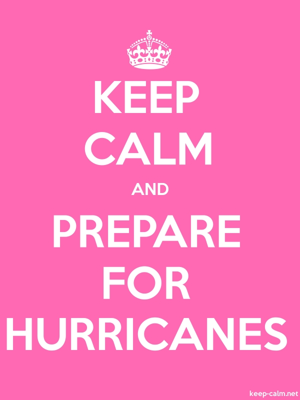 KEEP CALM AND PREPARE FOR HURRICANES - white/pink - Default (600x800)