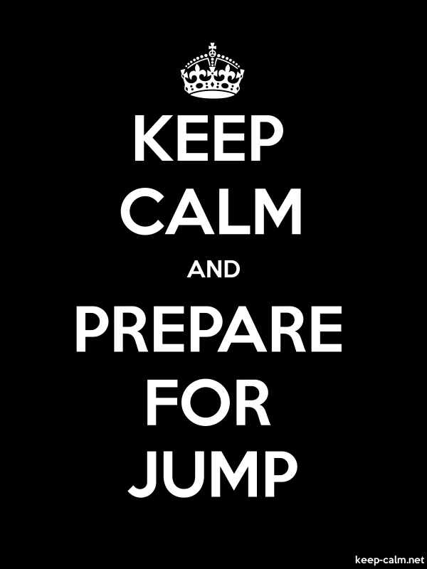 KEEP CALM AND PREPARE FOR JUMP - white/black - Default (600x800)