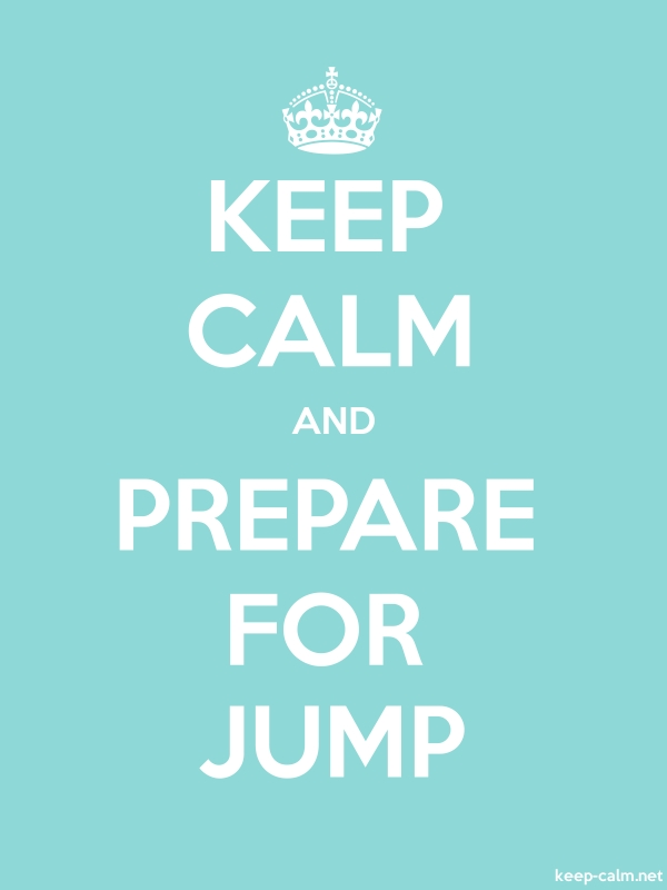KEEP CALM AND PREPARE FOR JUMP - white/lightblue - Default (600x800)