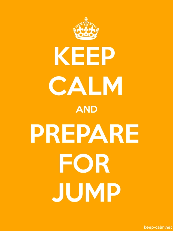 KEEP CALM AND PREPARE FOR JUMP - white/orange - Default (600x800)