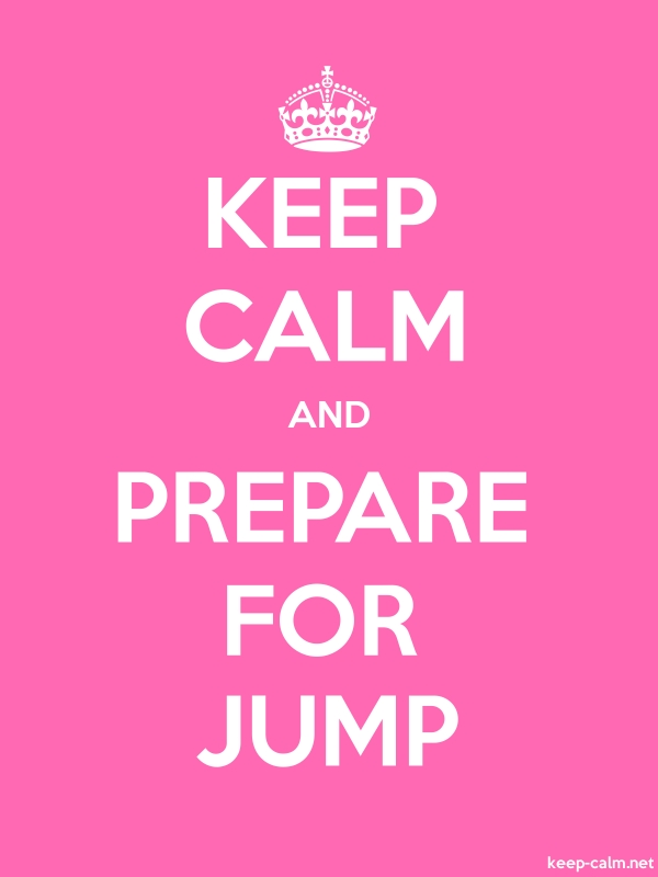 KEEP CALM AND PREPARE FOR JUMP - white/pink - Default (600x800)