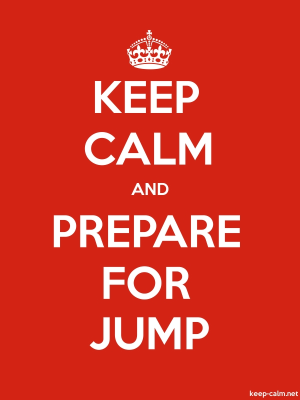 KEEP CALM AND PREPARE FOR JUMP - white/red - Default (600x800)