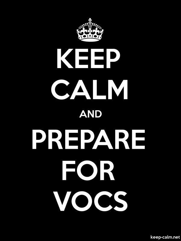 KEEP CALM AND PREPARE FOR VOCS - white/black - Default (600x800)