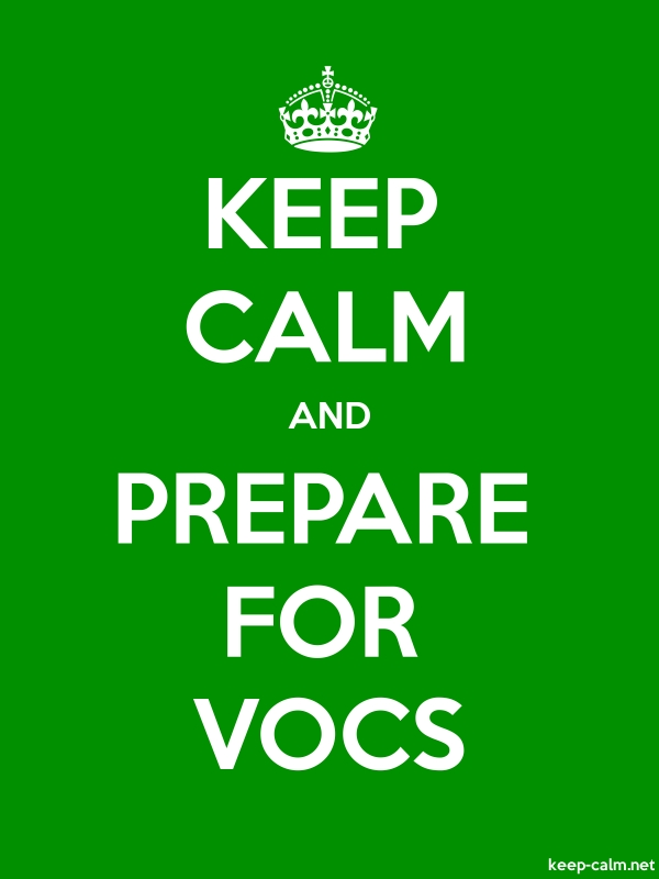 KEEP CALM AND PREPARE FOR VOCS - white/green - Default (600x800)