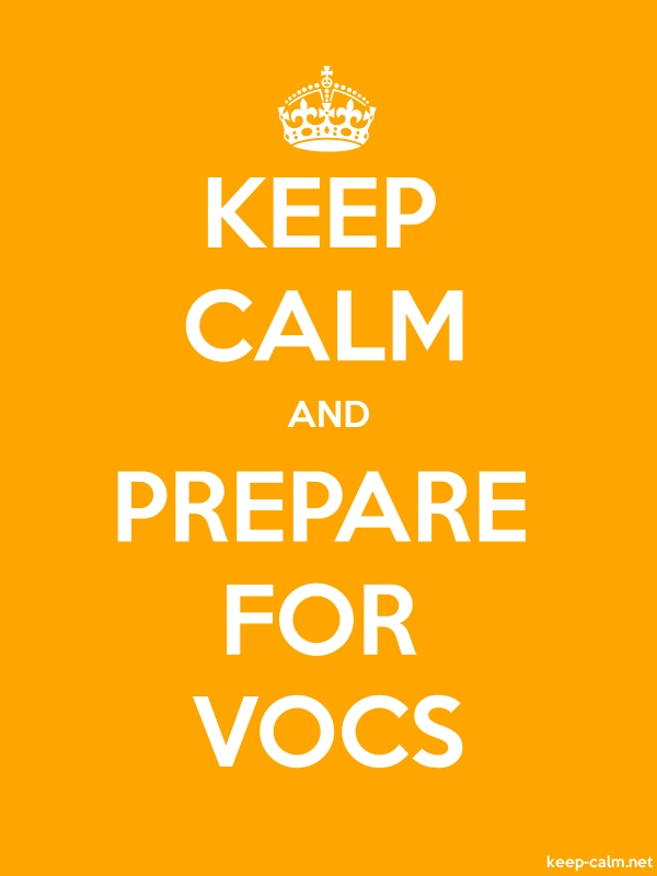KEEP CALM AND PREPARE FOR VOCS - white/orange - Default (600x800)