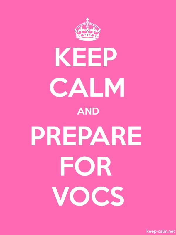 KEEP CALM AND PREPARE FOR VOCS - white/pink - Default (600x800)