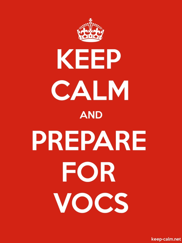 KEEP CALM AND PREPARE FOR VOCS - white/red - Default (600x800)