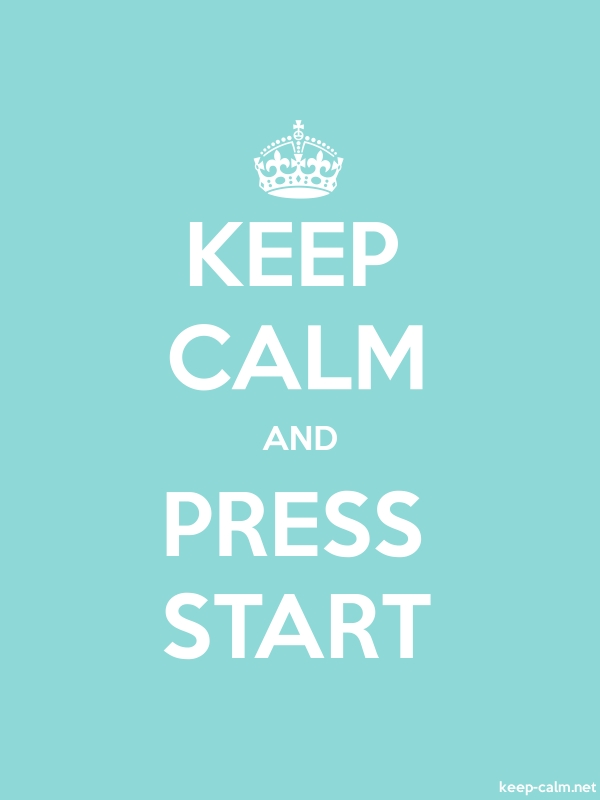 KEEP CALM AND PRESS START - white/lightblue - Default (600x800)