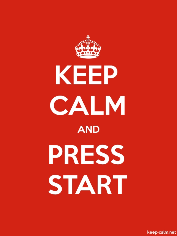 KEEP CALM AND PRESS START - white/red - Default (600x800)