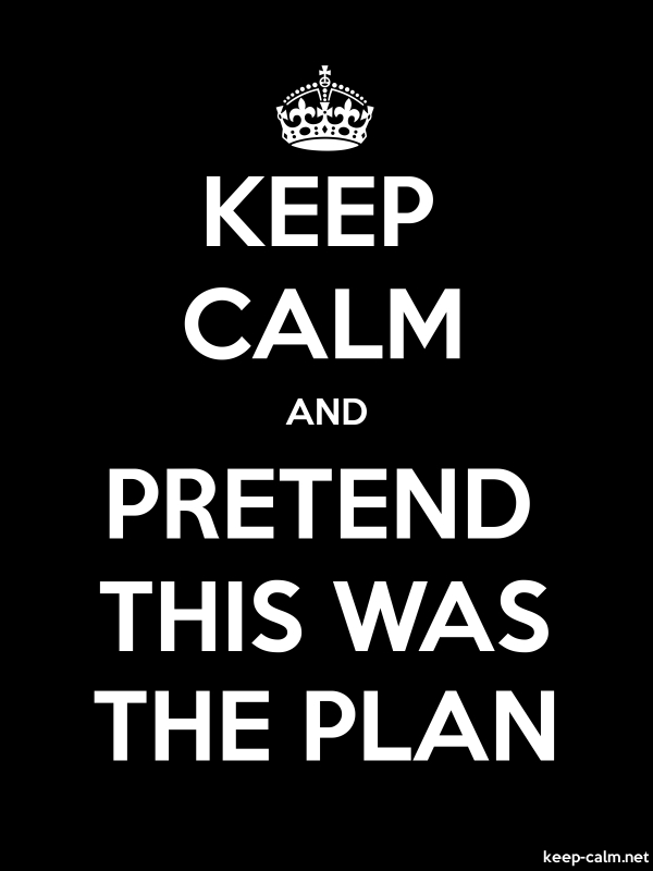 KEEP CALM AND PRETEND THIS WAS THE PLAN - white/black - Default (600x800)