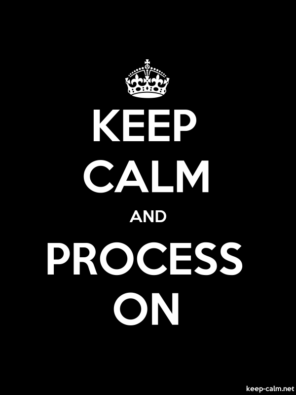 KEEP CALM AND PROCESS ON - white/black - Default (600x800)