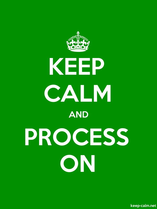 KEEP CALM AND PROCESS ON - white/green - Default (600x800)
