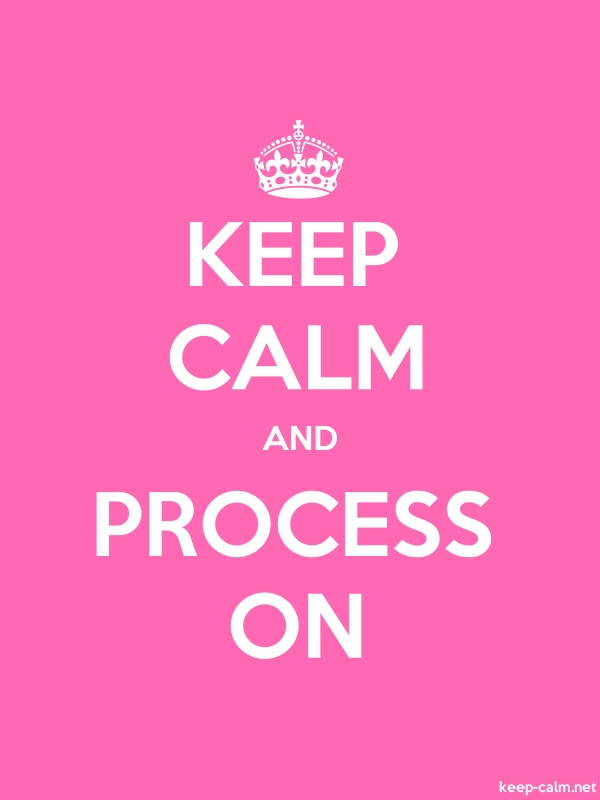 KEEP CALM AND PROCESS ON - white/pink - Default (600x800)