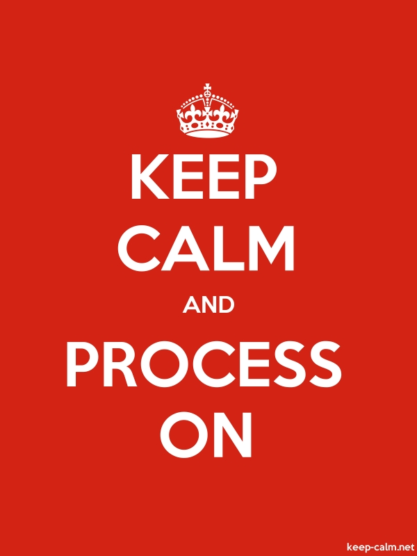 KEEP CALM AND PROCESS ON - white/red - Default (600x800)