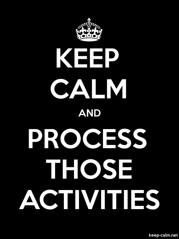 KEEP CALM AND PROCESS THOSE ACTIVITIES - white/black - Default (600x800)