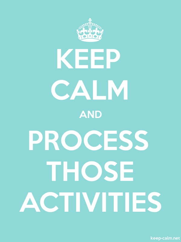 KEEP CALM AND PROCESS THOSE ACTIVITIES - white/lightblue - Default (600x800)