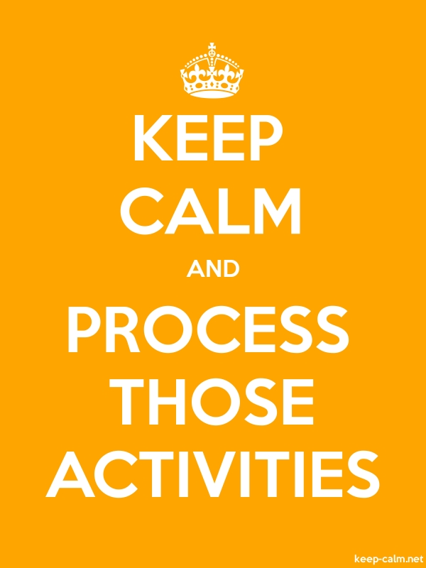 KEEP CALM AND PROCESS THOSE ACTIVITIES - white/orange - Default (600x800)