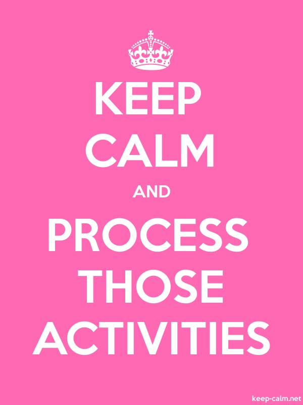KEEP CALM AND PROCESS THOSE ACTIVITIES - white/pink - Default (600x800)