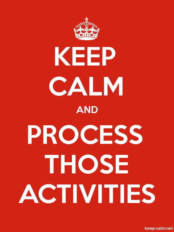 KEEP CALM AND PROCESS THOSE ACTIVITIES - white/red - Default (600x800)