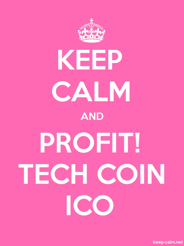 KEEP CALM AND PROFIT! TECH COIN ICO - white/pink - Default (600x800)