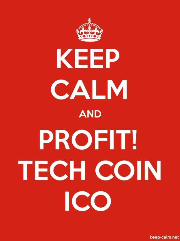 KEEP CALM AND PROFIT! TECH COIN ICO - white/red - Default (600x800)