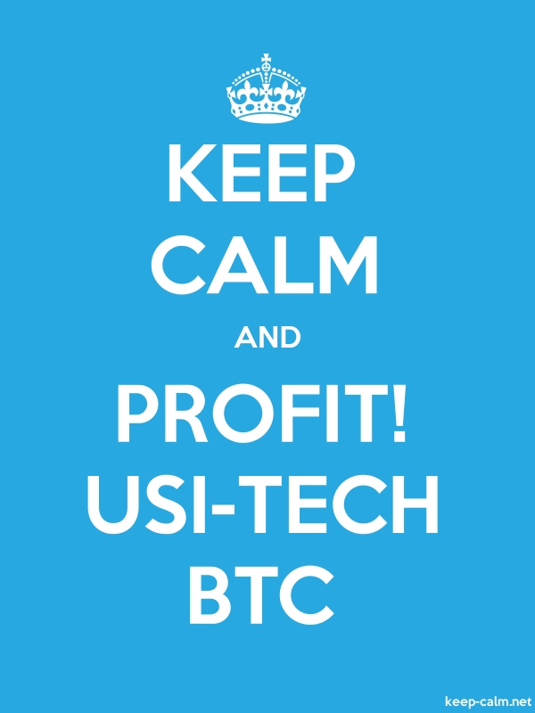 KEEP CALM AND PROFIT! USI-TECH BTC - white/blue - Default (600x800)
