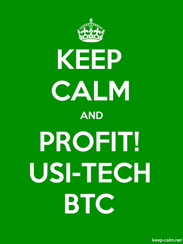 KEEP CALM AND PROFIT! USI-TECH BTC - white/green - Default (600x800)