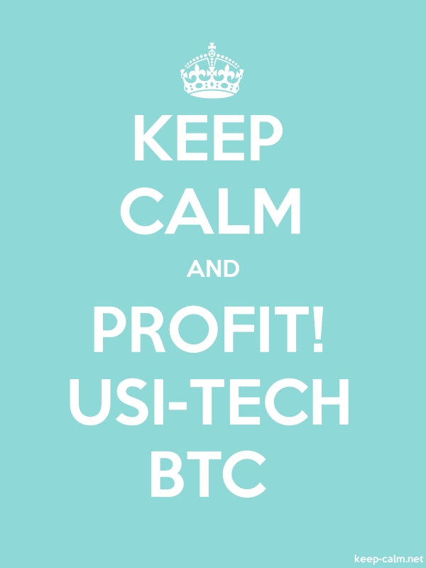 KEEP CALM AND PROFIT! USI-TECH BTC - white/lightblue - Default (600x800)