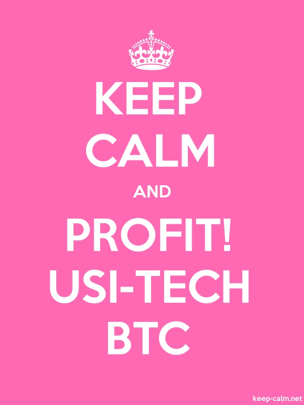 KEEP CALM AND PROFIT! USI-TECH BTC - white/pink - Default (600x800)