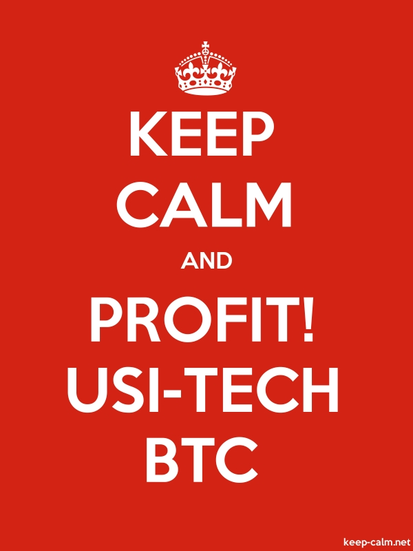 KEEP CALM AND PROFIT! USI-TECH BTC - white/red - Default (600x800)