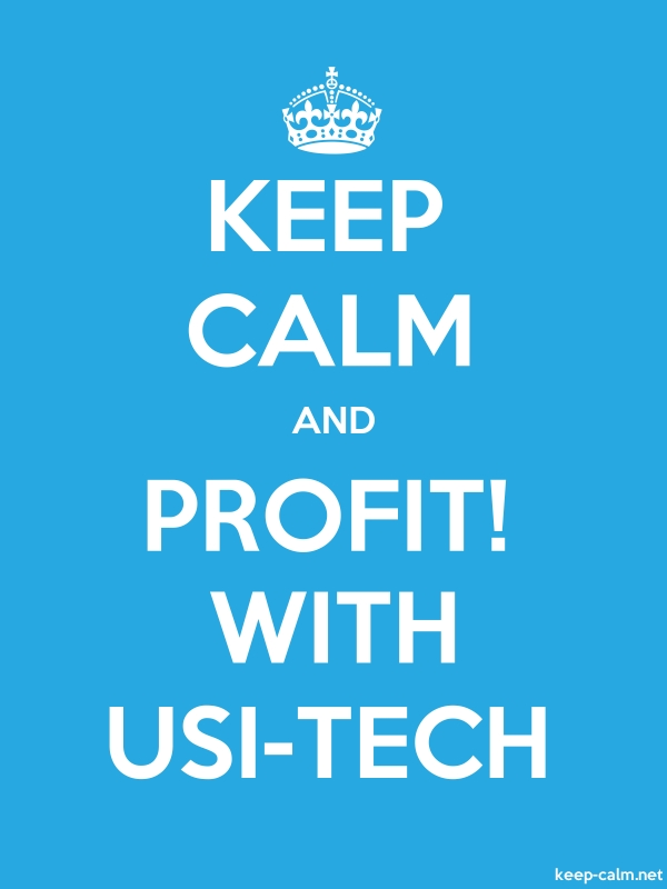KEEP CALM AND PROFIT! WITH USI-TECH - white/blue - Default (600x800)