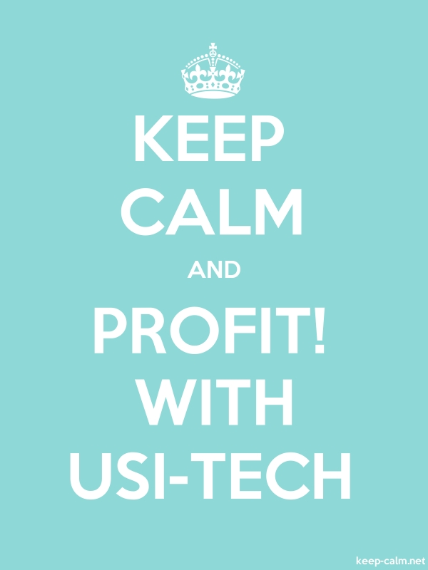 KEEP CALM AND PROFIT! WITH USI-TECH - white/lightblue - Default (600x800)