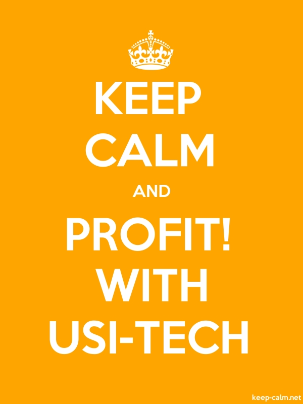 KEEP CALM AND PROFIT! WITH USI-TECH - white/orange - Default (600x800)