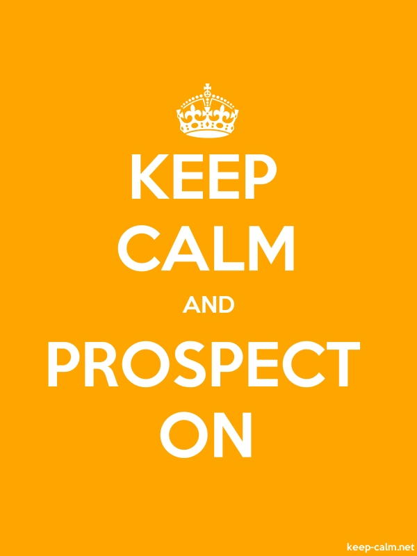 KEEP CALM AND PROSPECT ON - white/orange - Default (600x800)
