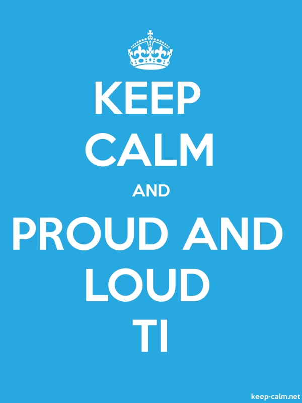 KEEP CALM AND PROUD AND LOUD TI - white/blue - Default (600x800)