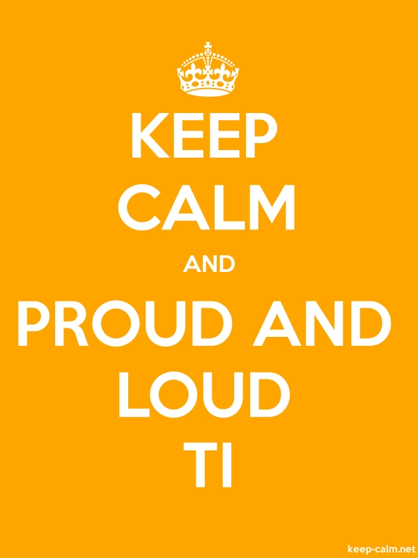 KEEP CALM AND PROUD AND LOUD TI - white/orange - Default (600x800)