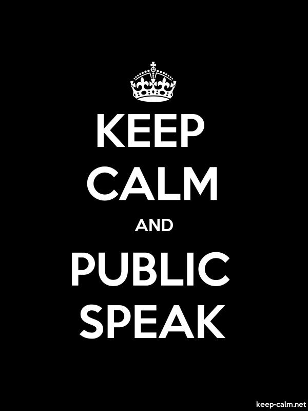 KEEP CALM AND PUBLIC SPEAK - white/black - Default (600x800)