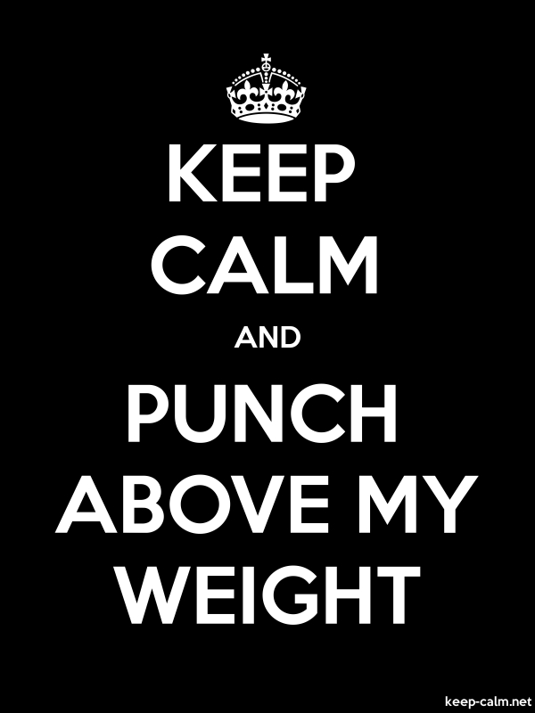 KEEP CALM AND PUNCH ABOVE MY WEIGHT - white/black - Default (600x800)
