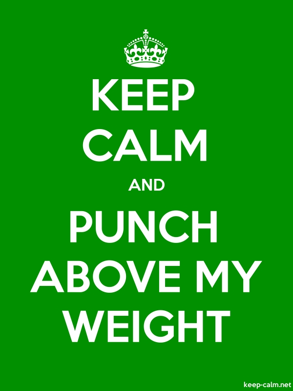 KEEP CALM AND PUNCH ABOVE MY WEIGHT - white/green - Default (600x800)