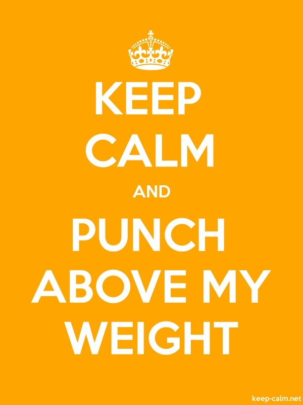 KEEP CALM AND PUNCH ABOVE MY WEIGHT - white/orange - Default (600x800)