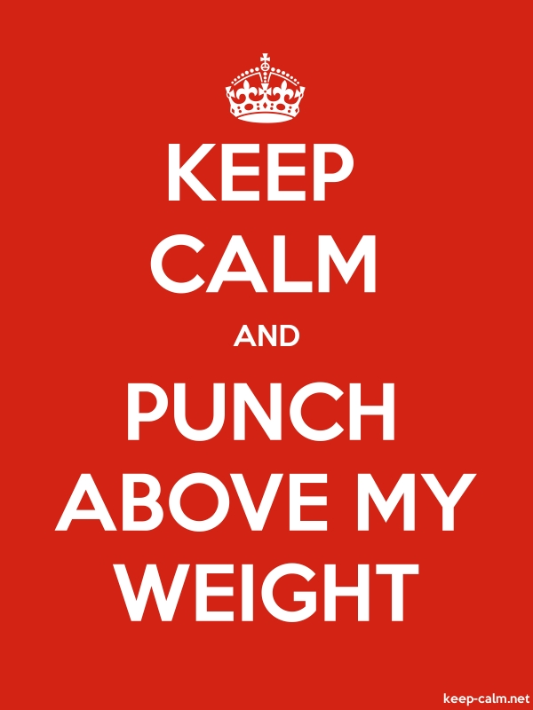 KEEP CALM AND PUNCH ABOVE MY WEIGHT - white/red - Default (600x800)