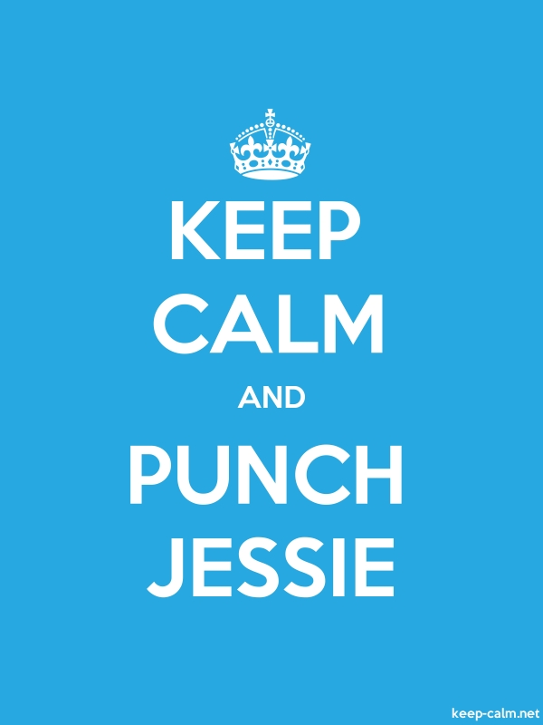 KEEP CALM AND PUNCH JESSIE - white/blue - Default (600x800)