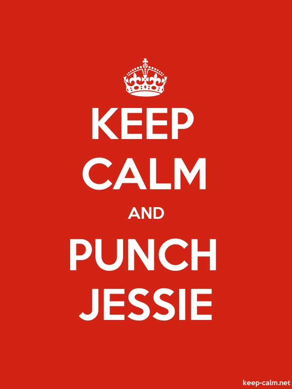 KEEP CALM AND PUNCH JESSIE - white/red - Default (600x800)