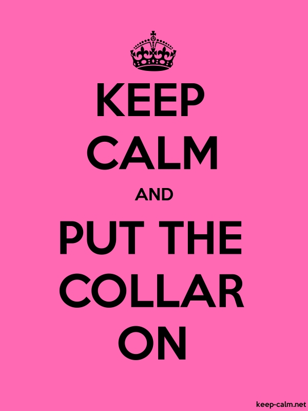 KEEP CALM AND PUT THE COLLAR ON - black/pink - Default (600x800)