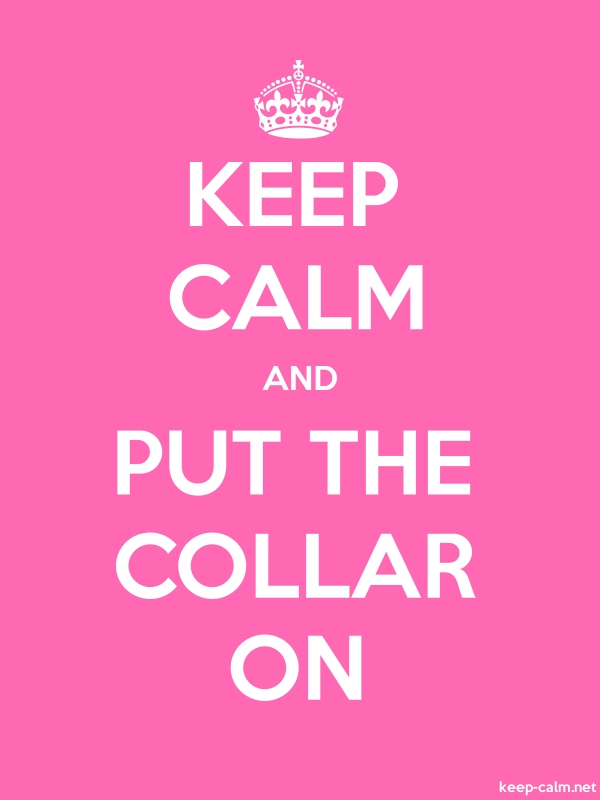 KEEP CALM AND PUT THE COLLAR ON - white/pink - Default (600x800)