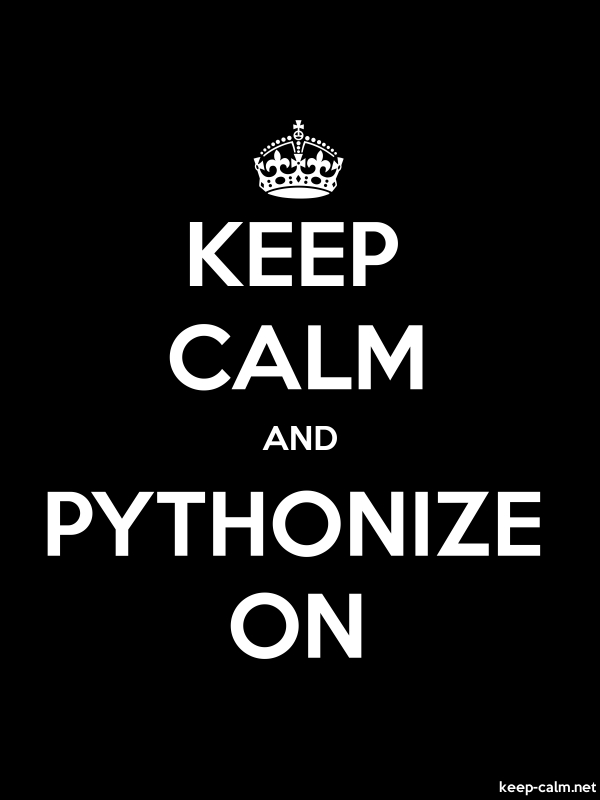KEEP CALM AND PYTHONIZE ON - white/black - Default (600x800)