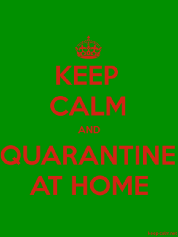 KEEP CALM AND QUARANTINE AT HOME - red/green - Default (600x800)