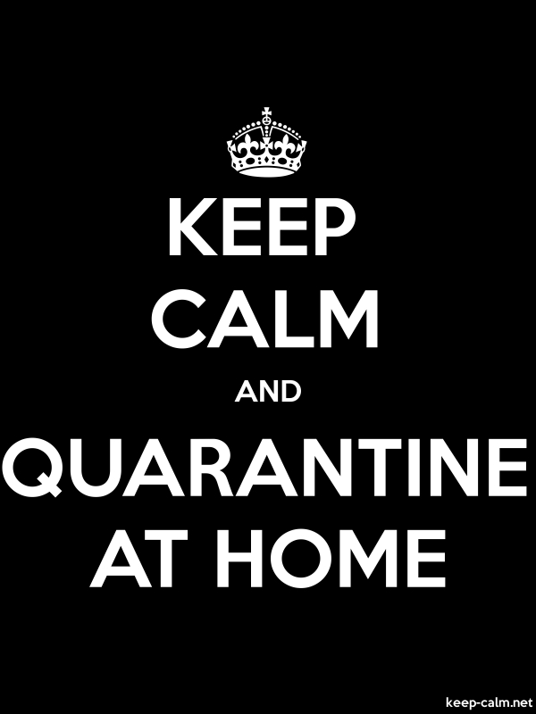KEEP CALM AND QUARANTINE AT HOME - white/black - Default (600x800)