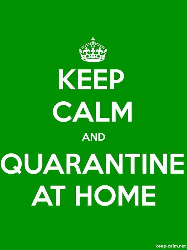KEEP CALM AND QUARANTINE AT HOME - white/green - Default (600x800)